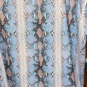 ASOS Dresses - ASOS M TShirt Dress Snakeskin Blue Pink White M